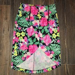 Five Boutique Flowered Pencil Skirt